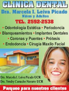 Clinica dental Marcela Leiva, Cartago Costa Rica TELEFONO 2592-2538